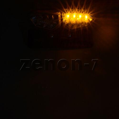 SMOKE LED LICENSE PLATE BRAKE TAIL TURN SIGNAL LIGHT FOR CAFE RACER ATV CHOPPER