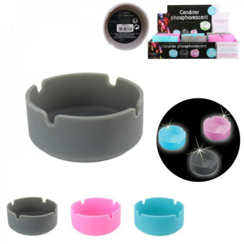 Details about  /Silicone Ashtray Glow 3-times Assorted Fete Birthday Party Time Gray Light Blue