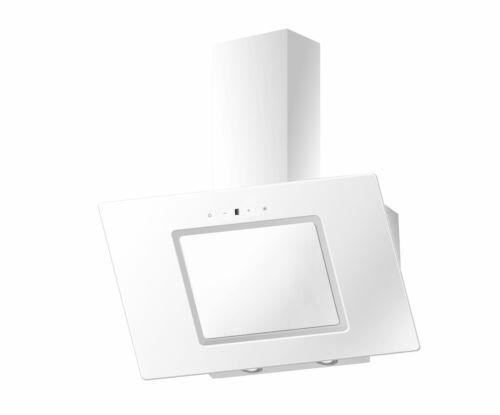 PKM cappa aspirante 90cm obliquo cappa in vetro bianco Testa libero cappa ventilazione aria di scarico NUOVO