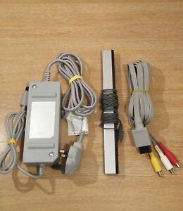 Official-Nintendo-Wii-Cables-Power-Supply-PSU-AV-Lead-Sensor-Bar