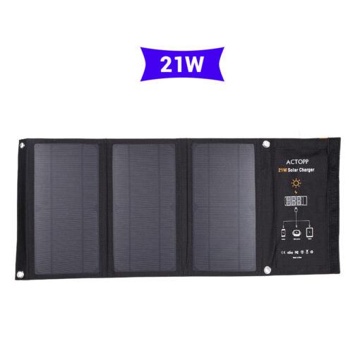 Chargeur de panneau solaire pliable portatif 21W avec 2 port USB pour Smartphone