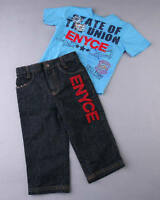 Boys 2pc Enyce Jeans Shirt Outfit Set 12m Fall