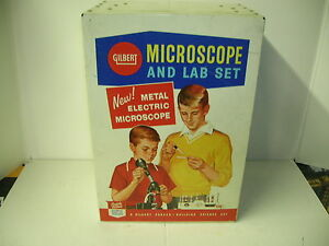 GILBERT-MICROSCOPE-AND-LAB-SET-NICE-NOT-COMPLETE-MAKE-OFFERS