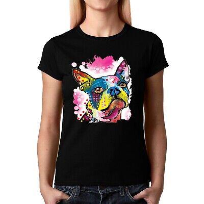 Velocitee Ladies Long Sleeve T-Shirt Psychedelic Alsatian German Shepherd A20133