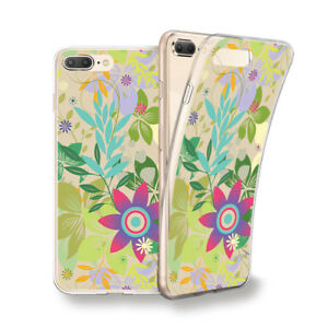 Funda Gel Dibujo Flores Plantas Verdes Para Xiaomi Redmi 5 5 Plus