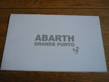 ABARTH FIAT GRANDE PUNTO CAR BROCHURE jm