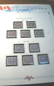 Canada Stamp Scott# J1-J18 Postage Due 1906-1932 MH & MNH L392