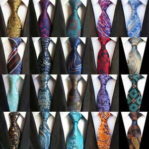Men's Neckties Classic Floral Paisley 8CM Ties Jacquard 100% Silk Tie Neck  Ties | eBay