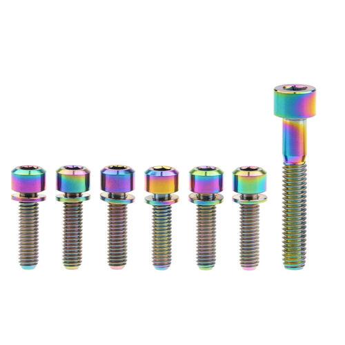 7x Titanium M6x16//18//20//25mm Bolts Screws+Washers M6x35mm Socket Cap Hex Ti Bolt