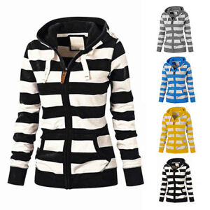 Women-Zipper-Tops-Hoodie-Hooded-Sweatshirt-Coat-Jacket-Slim-Fit-Jumpers-Outwear
