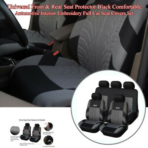 2pcs Black Waterproof Car Truck Front Seat Covers Protector Nylon Breathable new