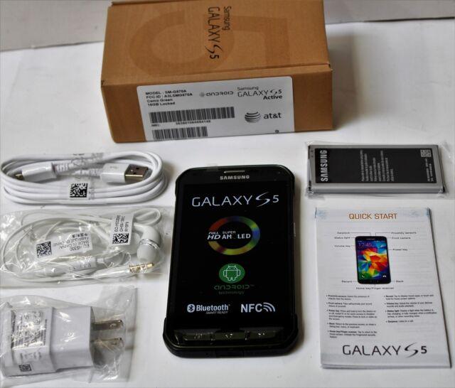 Samsung Galaxy SM-G870A S5 Active Gray Smartphone AT&T waterproof  9