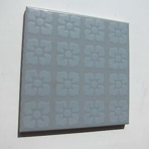 Vintage S X Grey Floral Floor Tile Sq Ft Available - 1960s floor tiles