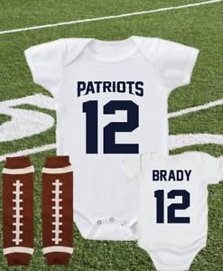 New England Patriots Tom Brady Onesie Jersey Shirt Bodysuit