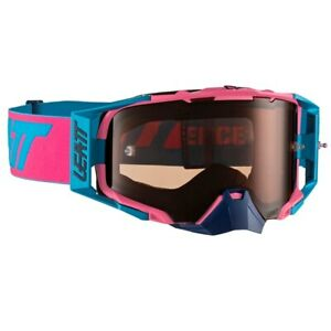 LEATT VELOCITY 6.5 TEAR OFF GOGGLES PINK CYAN WITH ROSE UC LENS MOTOCROSS MX NEW