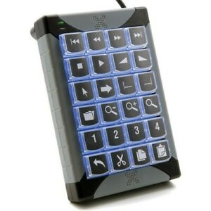 PI Engineering XK-24 Programmable XK-24-USB-R Wired Keyboard
