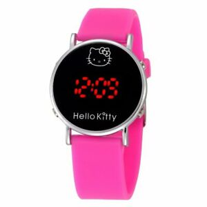 Hello-kitty-Cartoon-Watch-Digital-LED-Silicone-Wristwatches-for-Girls-FREE-SHIP