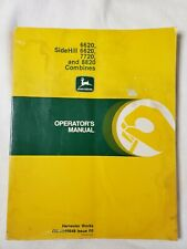 John Deere 6620 Side Hill 7720 8820 Combine Owners Operator Manual Om H105648 F0