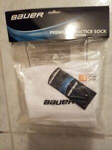6a75eba04da Image is loading Bauer-Premium-Practice-Socks-White-Youth-Size-Small