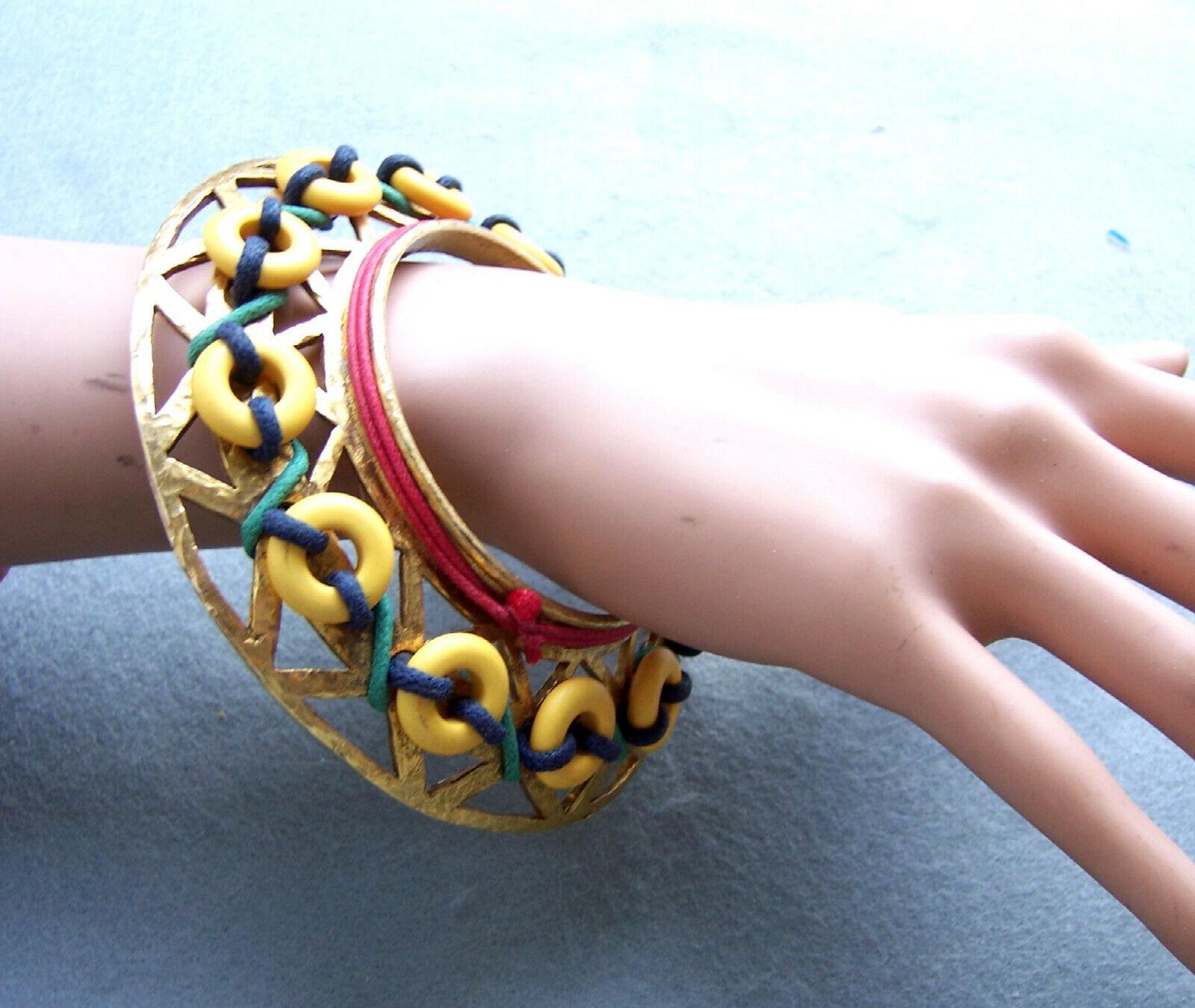 Important (unsigned) Claire Deve huge bangle brac… - image 4
