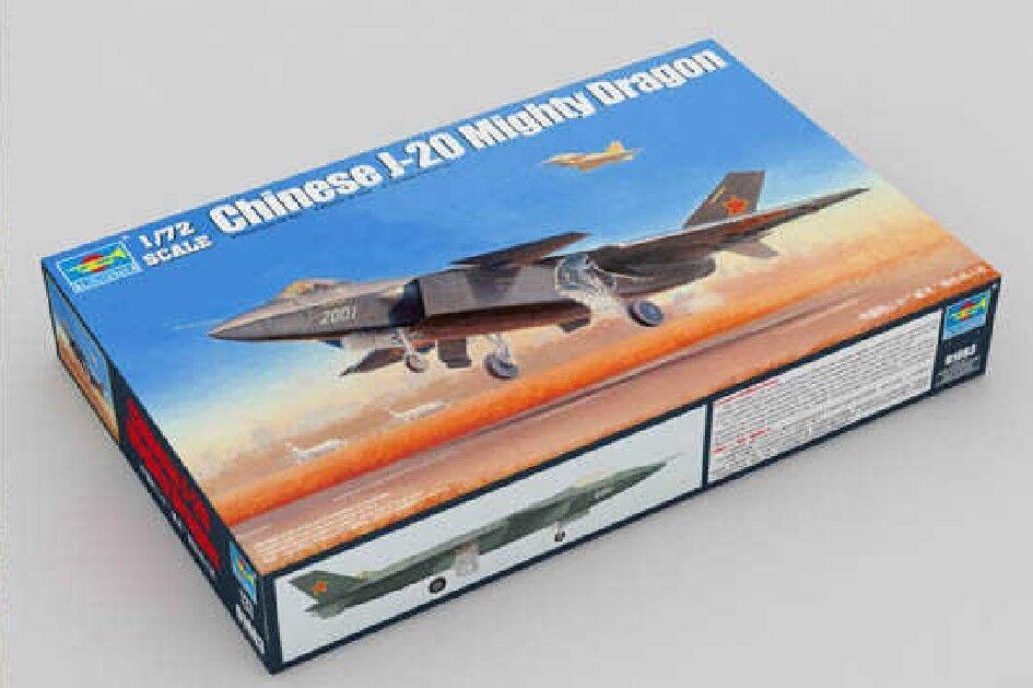 01663 trumpetare plan J -20 Mäktiga drake Stealth Fighter flygagagplan 1  72 modelllllerlerl Kit