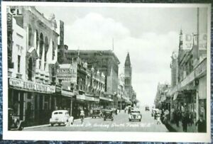 rare-1900-039-s-Victorian-Stamp-Market-postcard-Collins-St-looking-west-Melbourne