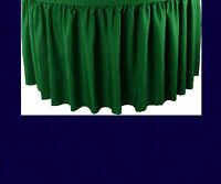 17' Navy Premium Flame Retardant Table Skirts - Fire Resistant Table Skirting