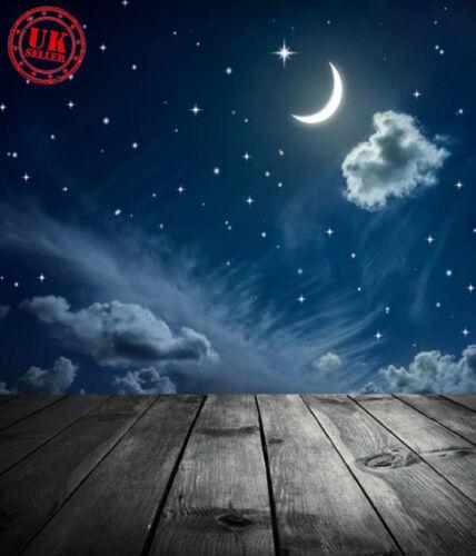 BLUE STAR FLOOR NIGHT BABY BACKDROP BACKGROUND VINYL PHOTO PROP 5X7FT 150X220CM