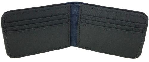 Navy Blue Men/'s Vegan Polyester /& Nylon Bi fold Wallet Handmade in California