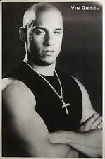 Vin Diesel 24x36 White Border Close Up Movie Poster Fast And The Furious