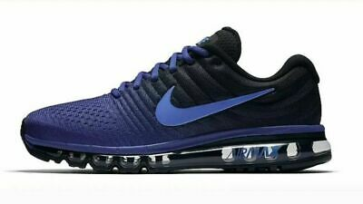 separation shoes 87613 6e024 Nike Air Max 2017 Mens Running Lifestyle Shoes 849559 401 Deep Royal Blue  Cobalt | eBay