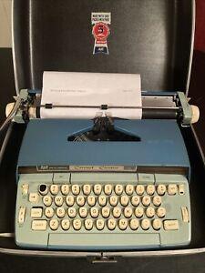 Vintage Two Tone Blue SCM Smith Corona Coronet Automatic 12 Electric Typewriter