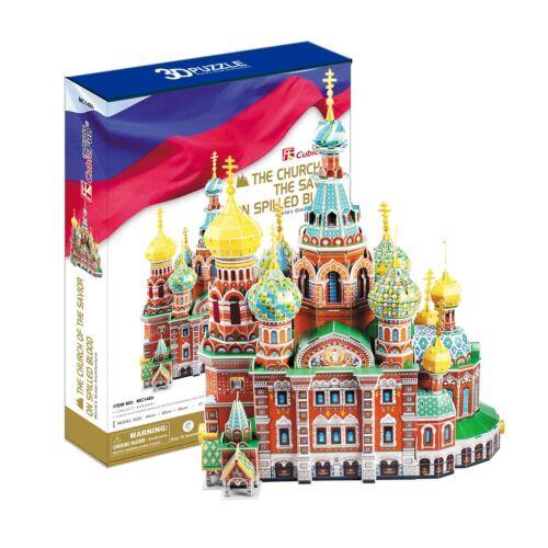3D PUZZLE CubicFun 233 pcs CHURCH of the SAVIOR on BLOOD RUSSIA SAINT PETERSBURG