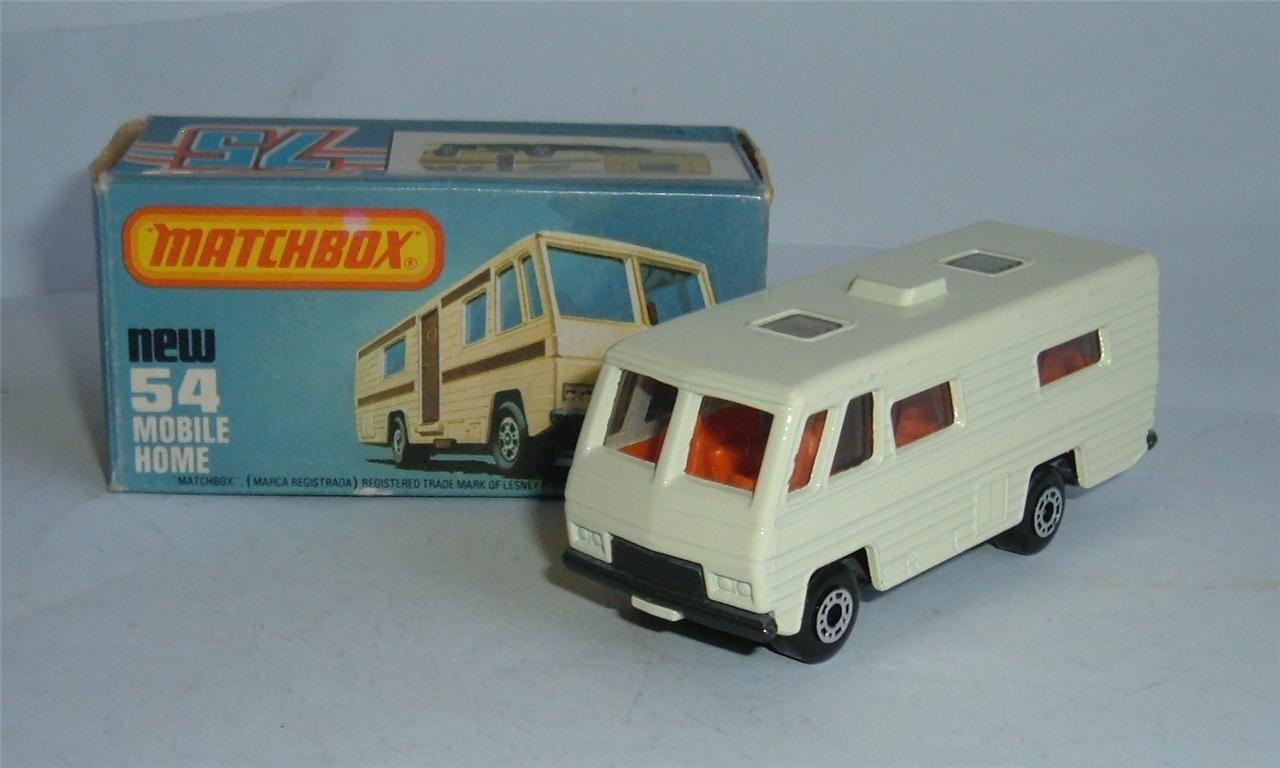 Matchbox Superfast No. 54, 54, 54, Mobile Home, - Superb Mint 079f48