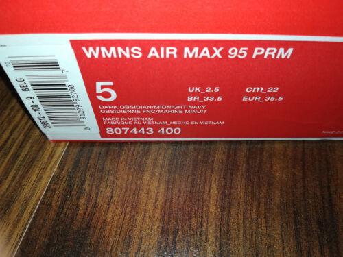 807443 Neuf 95 Nike Max Femme 400 Chaussures Air Premium 5 Noir Wmns Obsidian 35 Bleu wqfAq70