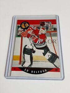 1990-91-Pro-Set-Ed-Belfour-Rookie-Rc-598-Blackhawks-L-K