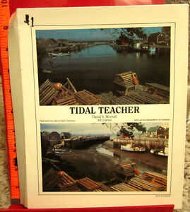 TIDAL-TEACHER-action-teaching-model-Currents-Tide-Table-graphs-w-booklet-1989