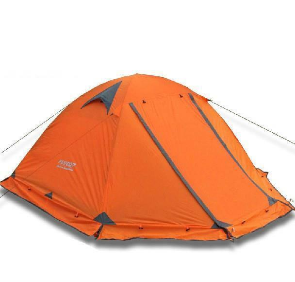 Camping Tent Outdoor 2 Persons 3 Double Layer Windproof Winter Professional Camp