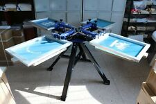 4 Color 4 Station Silk Screen Printing Press Machine Screen Printer T Shirt Diy