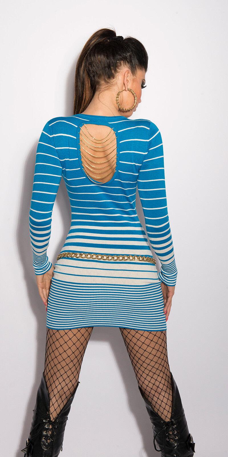 VESTIDO DE PUNTO MINIVESTIDO KOUCLA Suéter Suéter Suéter Largo Jersey cadena espalda sexy 94fbdc