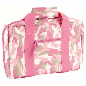 NCSTAR Discreet Pistol Case Nylon Pink Two Padded Handgun Compartments   CPP2903