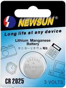 2x-Schluessel-Batterie-Fernbedienung-Knopfzelle-Mercedes-Benz-CR2025-NEU