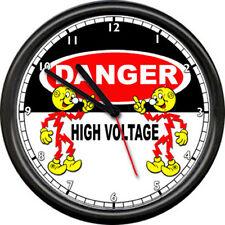 Reddy Kilowatt Electrician Utility Lineman New England Power Co Sign Wall Clock