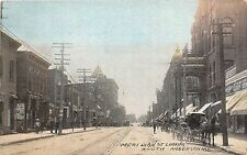 Indiana In Postcard c1910 ANDERSON Meridan St South Wagon Stores