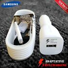 New OEM Samsung Galaxy Note 4 S4 S6 Edge FAST RAPID CAR Charger WHITE W / CABLE