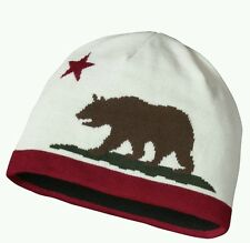 Patagonia Mens Hat Beanie California Republic Bear Red Logo NWT Wool Blend