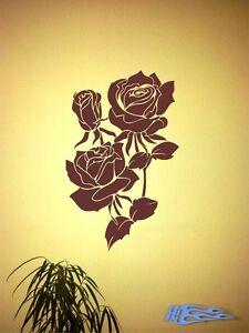 Wandtattoo-Blumenranken-Rosen-Wandaufkleber-Deko-Geschenkidee