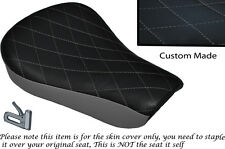 TWO TONE DIAMOND GREY CUSTOM FITS HARLEY SPORTSTER 883 48 72 RIDER SEAT COVER