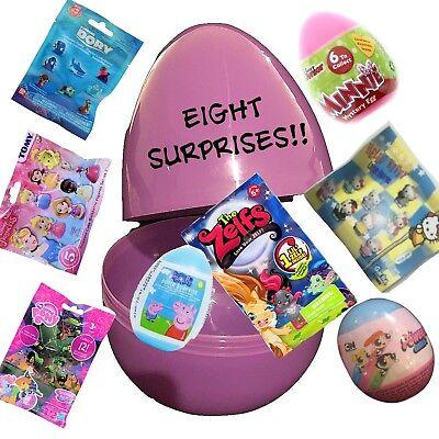 Giant Jumbo 8 Plastic Surprise Egg W 8 Peppa Pig