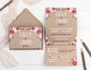 Rustic-Wedding-Invitation-Kraft-Wildflower-Z-Fold